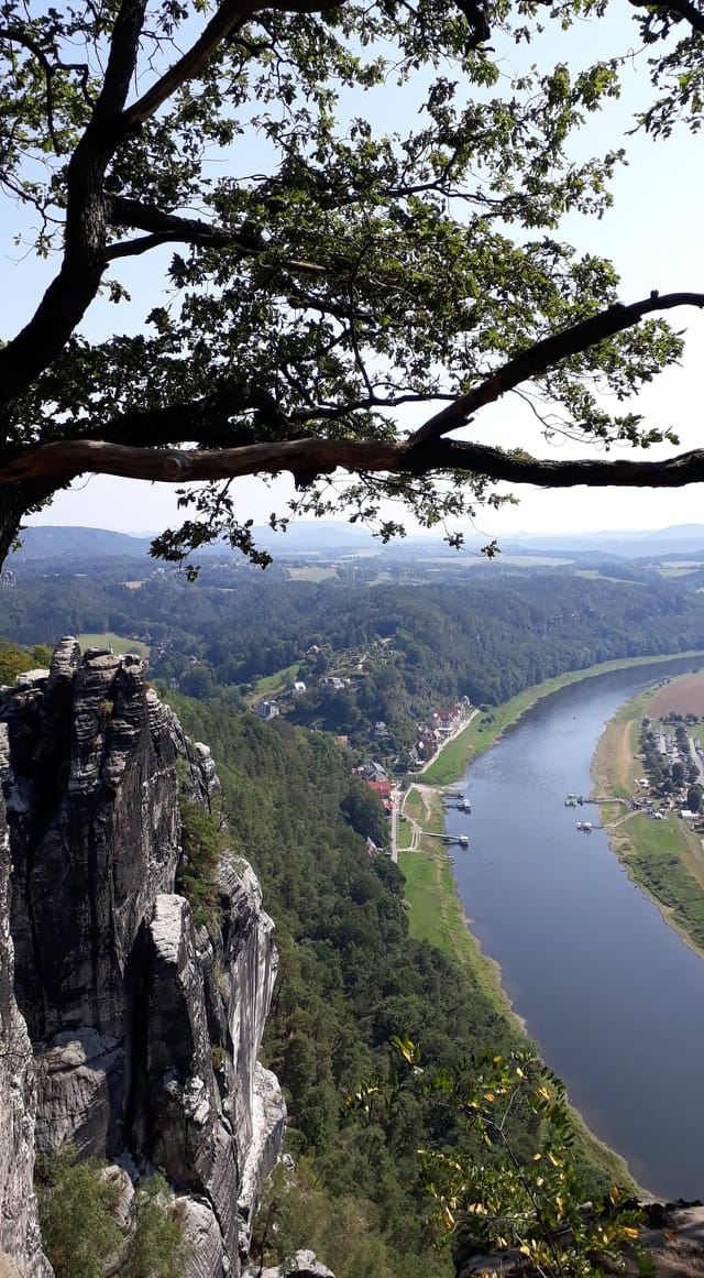 Famous Jagged Rocks of the Bastei