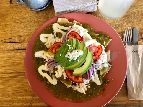 Chilaquiles at Ojo de Agua