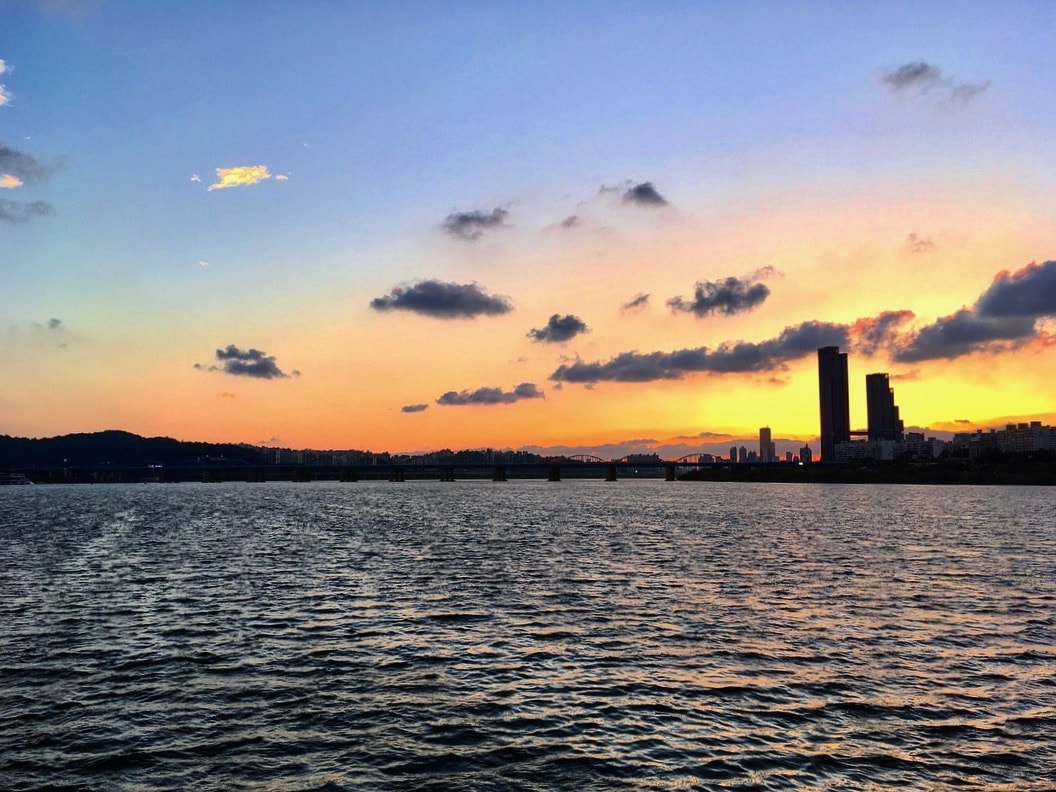 Sunset over the Han River, Seoul