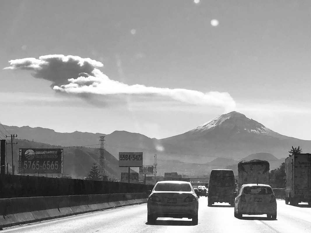 popocatepetl black and white