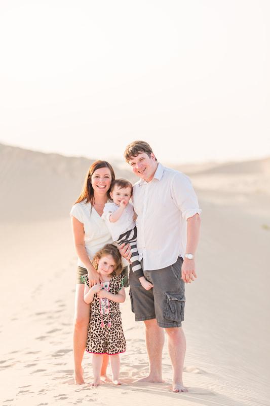 Family photo in the desert